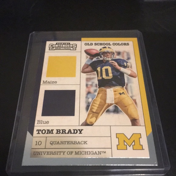Tom Brady college card